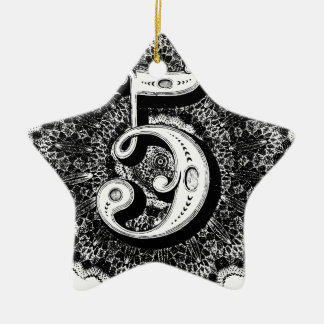 Ornamento De Cerâmica Número 5