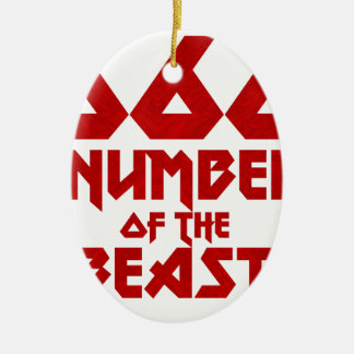 Ornamento De Cerâmica Número do animal