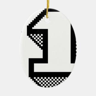 Ornamento De Cerâmica Número um