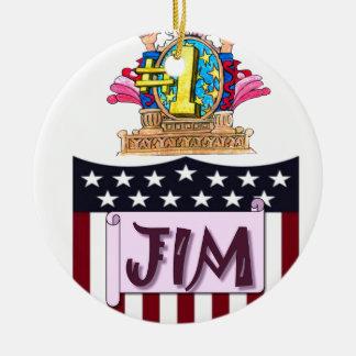 Ornamento De Cerâmica Número um Jim