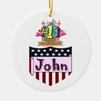 Ornamento De Cerâmica Número um John