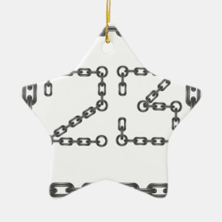 Ornamento De Cerâmica números chain