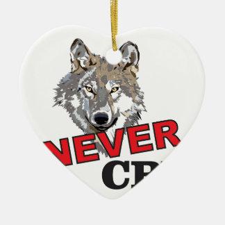 Ornamento De Cerâmica nunca grita o lobo