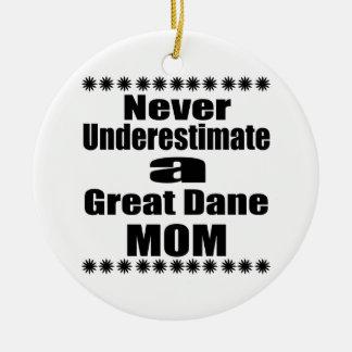 Ornamento De Cerâmica Nunca subestime a mamã de great dane