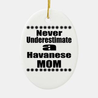 Ornamento De Cerâmica Nunca subestime a mamã de Havanese