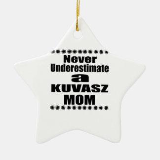 Ornamento De Cerâmica Nunca subestime a mamã de KUVASZ
