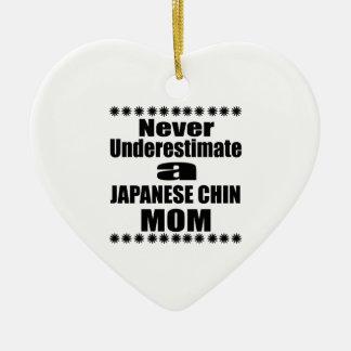 Ornamento De Cerâmica Nunca subestime a mamã JAPONESA do QUEIXO