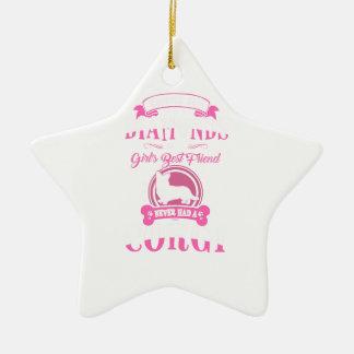 Ornamento De Cerâmica Nunca teve uma camiseta de cão das mamães do Corgi