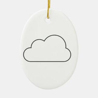 Ornamento De Cerâmica Nuvem simples
