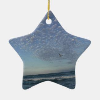 Ornamento De Cerâmica Nuvens da praia