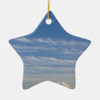 Ornamento De Cerâmica Nuvens misturadas