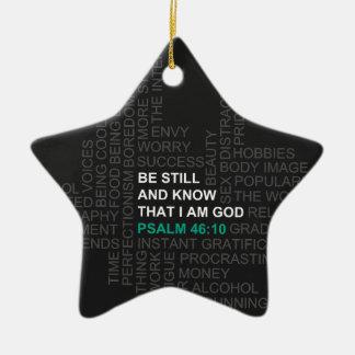 Ornamento De Cerâmica O 46:10 do salmo seja ainda e saiba