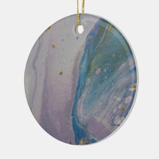 Ornamento De Cerâmica O acrílico do unicórnio derrama
