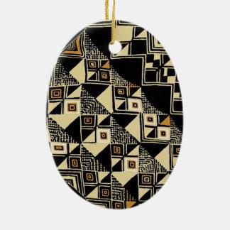 Ornamento De Cerâmica O africano Kuba inspirou o design