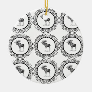 Ornamento De Cerâmica O alce de Bull soa o divertimento