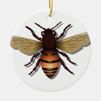Ornamento De Cerâmica O amarelo customizável Bumble a abelha