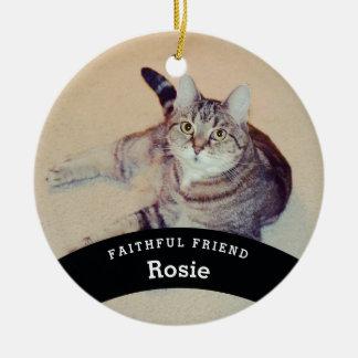 Ornamento De Cerâmica O amigo personalizado do animal de estimação