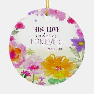 Ornamento De Cerâmica o amor 982.his resiste para sempre