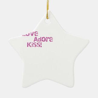 Ornamento De Cerâmica o amor adore o beijo