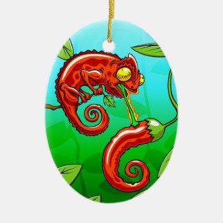 Ornamento De Cerâmica o amor é cego - falha do camaleão