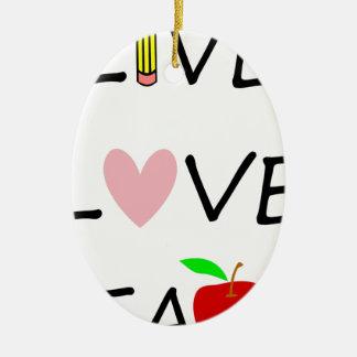 Ornamento De Cerâmica o amor vivo ensina