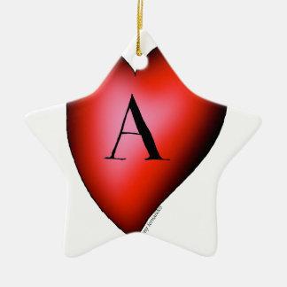 Ornamento De Cerâmica O ás de corações por Tony Fernandes
