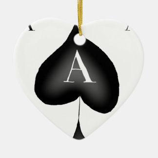 Ornamento De Cerâmica O ás de espada por Tony Fernandes
