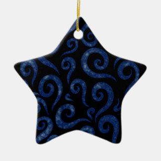 Ornamento De Cerâmica O azul roda teste padrão