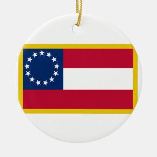 Ornamento De Cerâmica ø Bandeira confederada