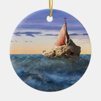 Ornamento De Cerâmica O barco de Brendan do santo
