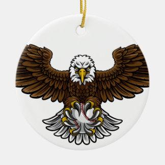 Ornamento De Cerâmica O basebol de Eagle ostenta a mascote