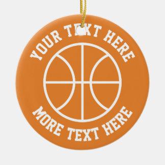 Ornamento De Cerâmica O basquetebol feito sob encomenda ostenta o