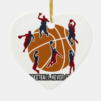 Ornamento De Cerâmica O basquetebol nunca para