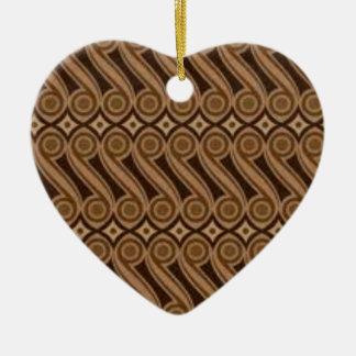 Ornamento De Cerâmica O Batik de Parang