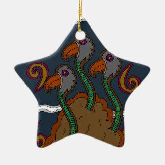 Ornamento De Cerâmica O Birdworms