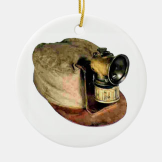 Ornamento De Cerâmica O boné de mineiro de carvão