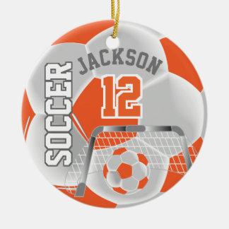 Ornamento De Cerâmica O branco e a laranja personalizam a bola de