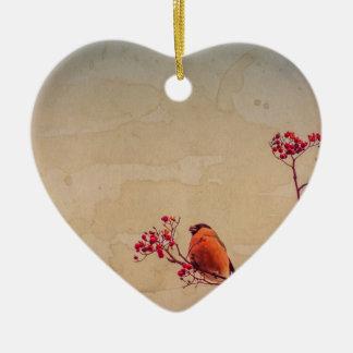 Ornamento De Cerâmica O Bullfinch em Rowan Textured