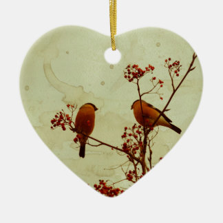 Ornamento De Cerâmica O Bullfinch em Rowan Textured 2