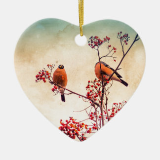 Ornamento De Cerâmica O Bullfinch em Rowan Textured 3
