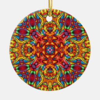 Ornamento De Cerâmica O caleidoscópio Freaky de Tiki Ornaments 6 formas