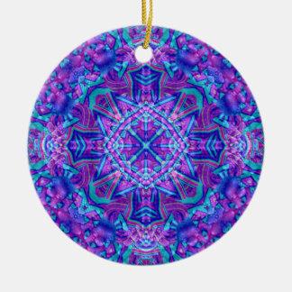 Ornamento De Cerâmica O caleidoscópio roxo e azul Ornaments 6 formas