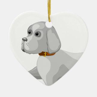 Ornamento De Cerâmica O cão dá a pata