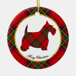 Ornamento De Cerâmica O cão do Scottie personaliza