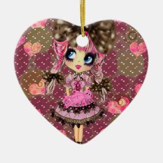 Ornamento De Cerâmica O chocolate borbulha Kawaii Lolita doce PinkyP