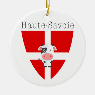 Ornamento De Cerâmica O círculo da vaca de Haute-Sabóia Dble-tomou