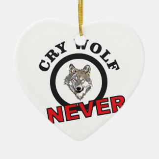 Ornamento De Cerâmica o círculo nunca grita lobo
