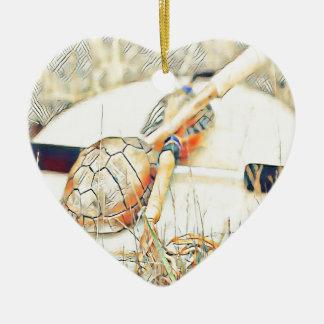 Ornamento De Cerâmica O clã da tartaruga chocalha e rufa