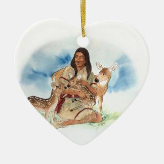 Ornamento De Cerâmica O clã dos cervos sere de mãe com suas jovens