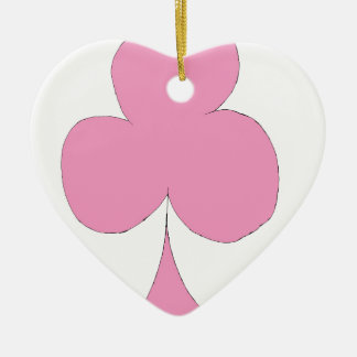 Ornamento De Cerâmica o clube cor-de-rosa